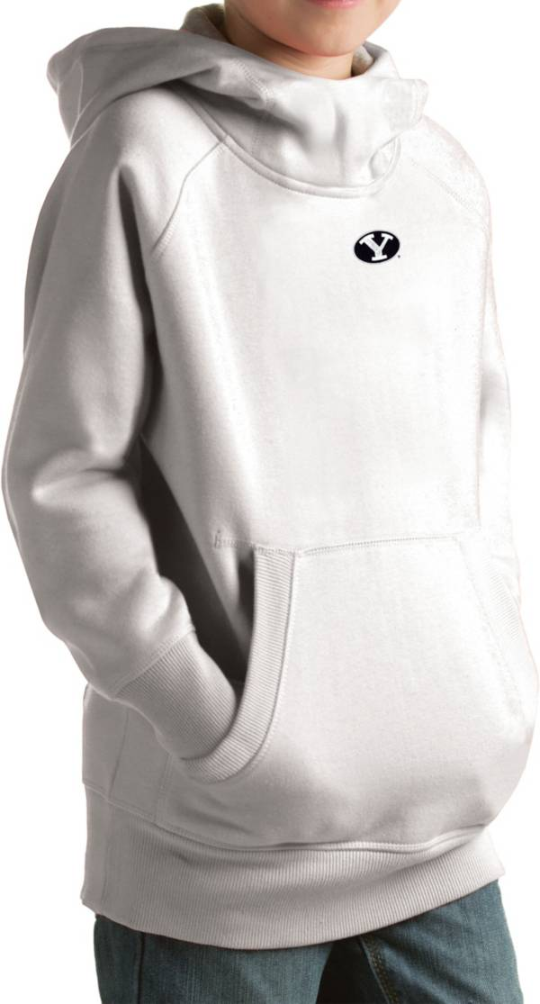 Antigua Youth BYU Cougars White Victory Pullover Hoodie product image