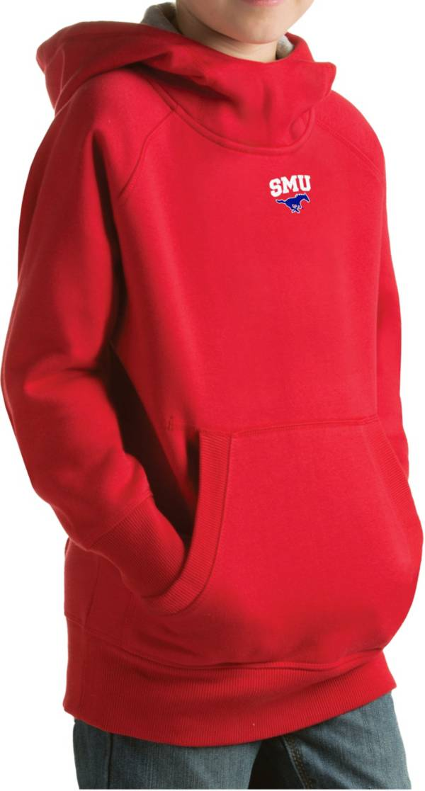 Antigua Youth Southern Methodist Mustangs Red Victory Pullover Hoodie product image