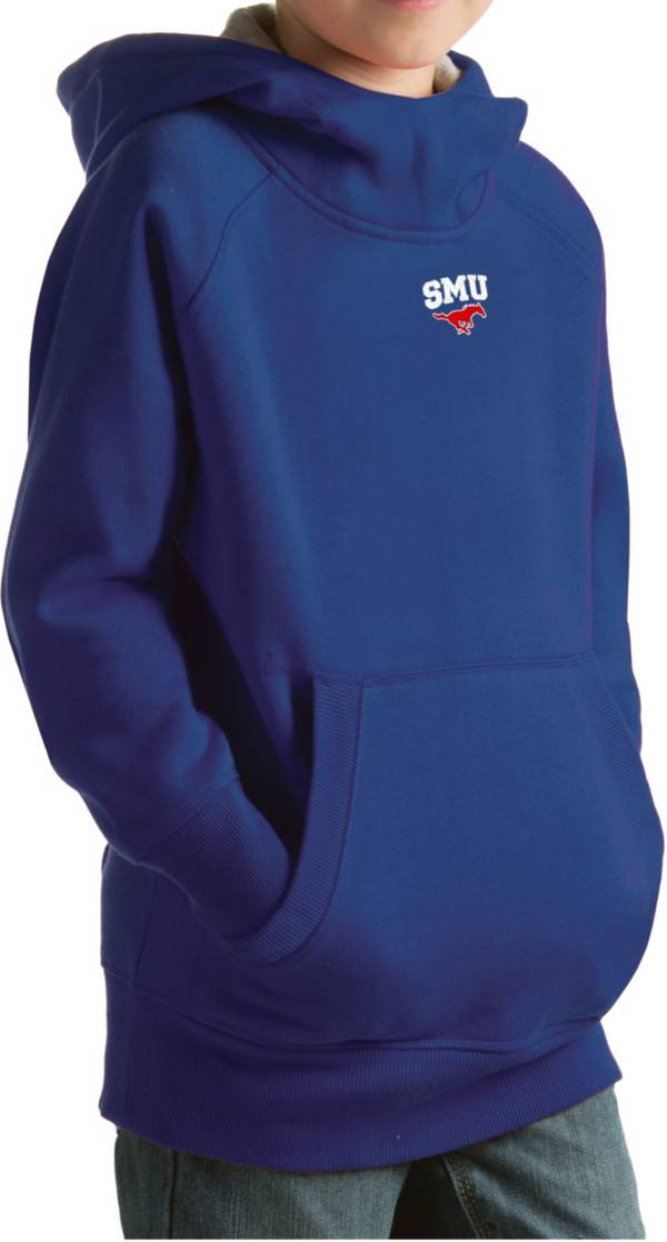 Antigua Youth Southern Methodist Mustangs Blue Victory Pullover Hoodie product image