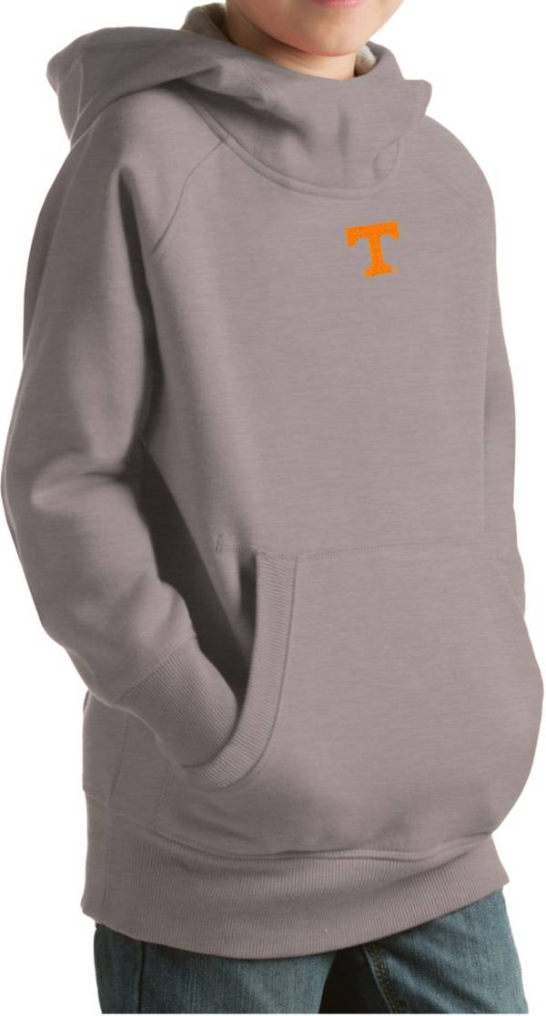 Antigua Youth Tennessee Volunteers Gray Victory Pullover Hoodie product image