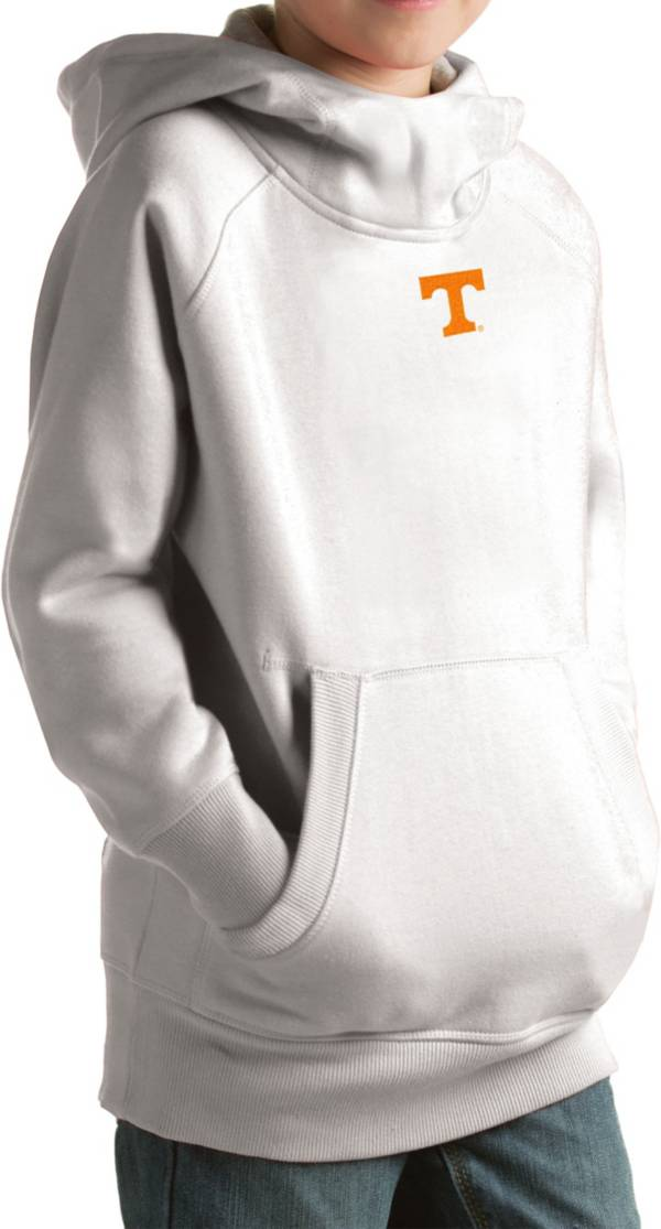 Antigua Youth Tennessee Volunteers White Victory Pullover Hoodie product image