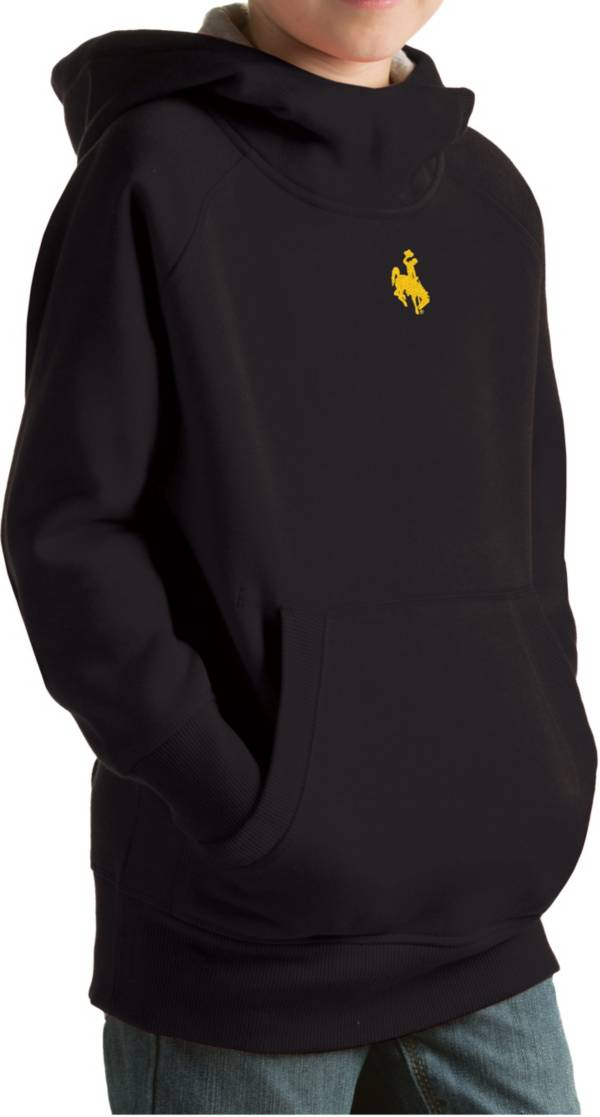 Antigua Youth Wyoming Cowboys Black Victory Pullover Hoodie product image
