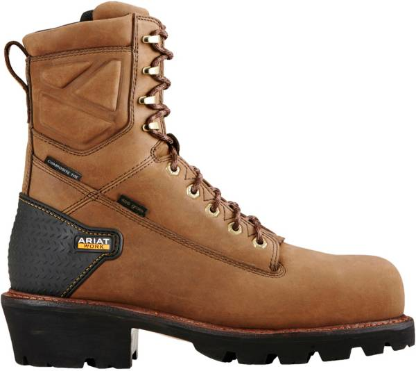 Ariat Men's Powerline 8'' H2O 400g Waterproof Composite Toe Work Boots product image