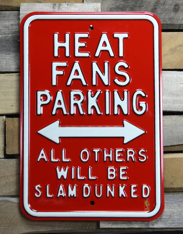 Authentic Street Signs Miami Heat Parking Sign product image