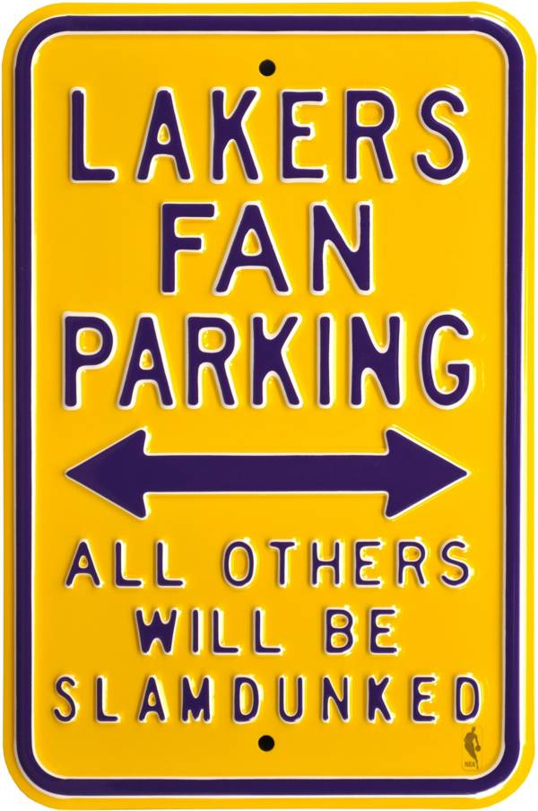 Authentic Street Signs Los Angeles Lakers Fans Parking Sign product image