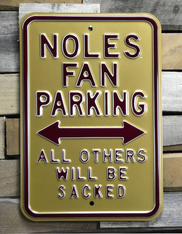 Authentic Street Signs Florida State Seminoles Noles Fans Parking Sign product image