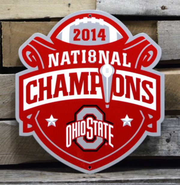 Authentic Street Signs Ohio State Buckeyes 2014 National Champions Steel Sign product image