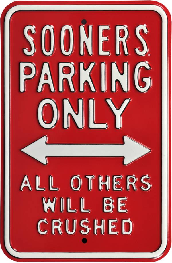 Authentic Street Signs Oklahoma Sooners Parking Sign product image