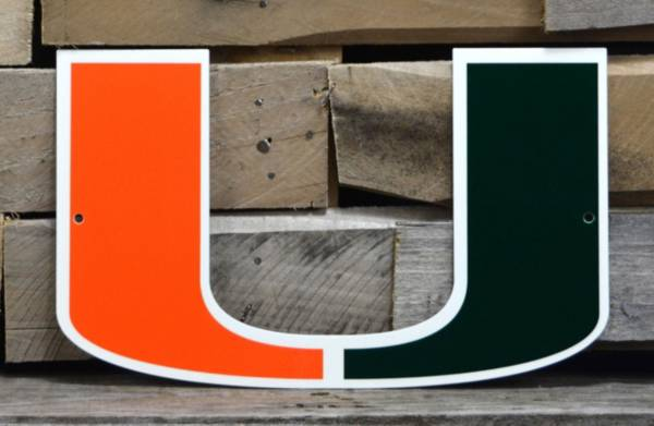 Authentic Street Signs Miami Hurricanes Steel Logo Sign product image