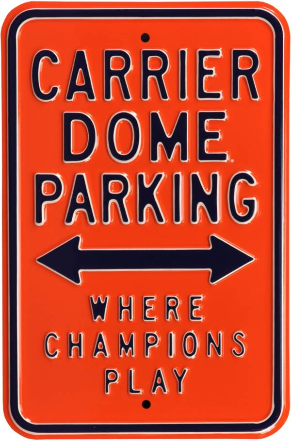 Authentic Street Signs Syracuse Orange Parking Sign product image