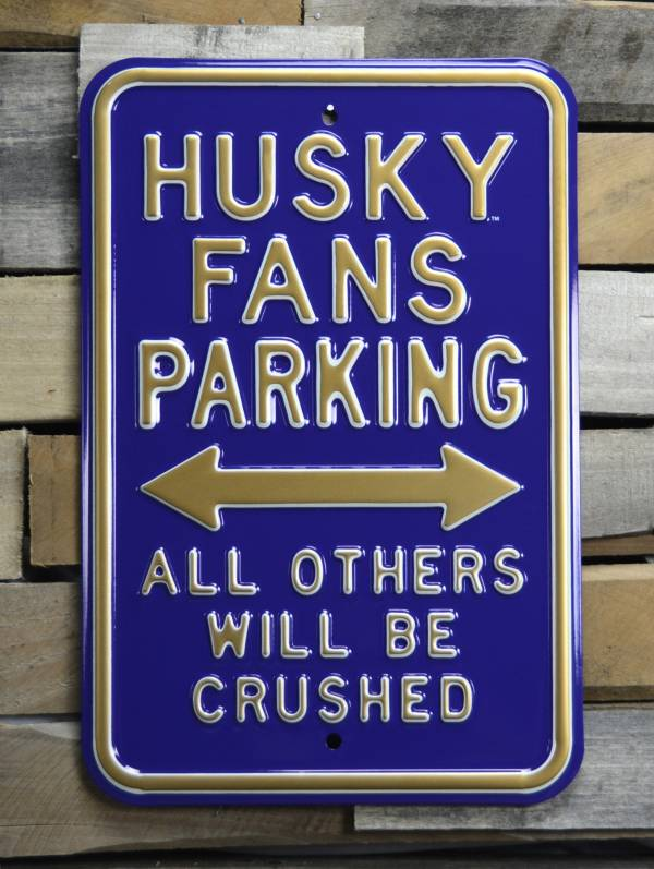 Authentic Street Signs Washington Huskies Parking Sign product image