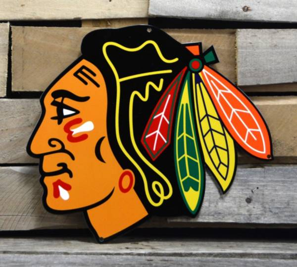 Authentic Street Signs Chicago Blackhawks Steel Logo Sign product image