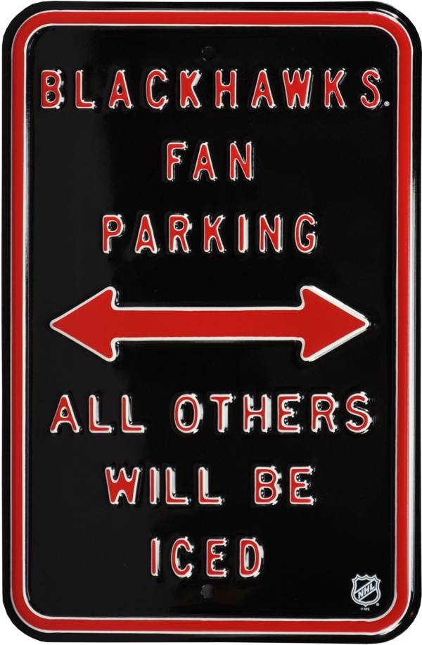 Authentic Street Signs Chicago Blackhawks Parking Sign product image