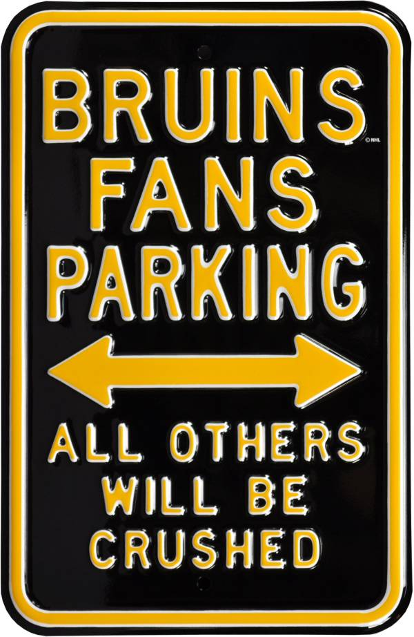 Authentic Street Signs Boston Bruins Parking Sign product image
