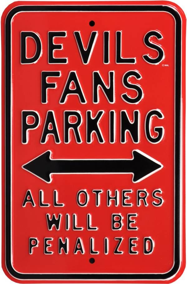 Authentic Street Signs New Jersey Devils Parking Sign product image