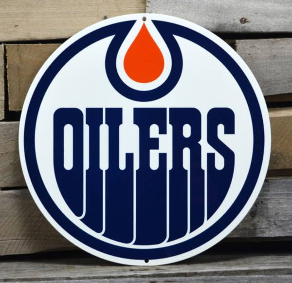 Authentic Street Signs Edmonton Oilers Steel Logo Sign product image