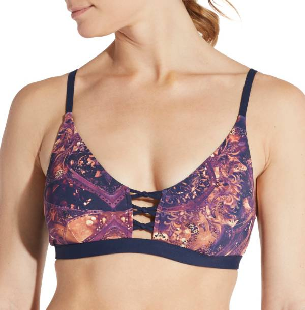 CALIA by Carrie Underwood Women's Lattice Front Printed Bikini Top product image