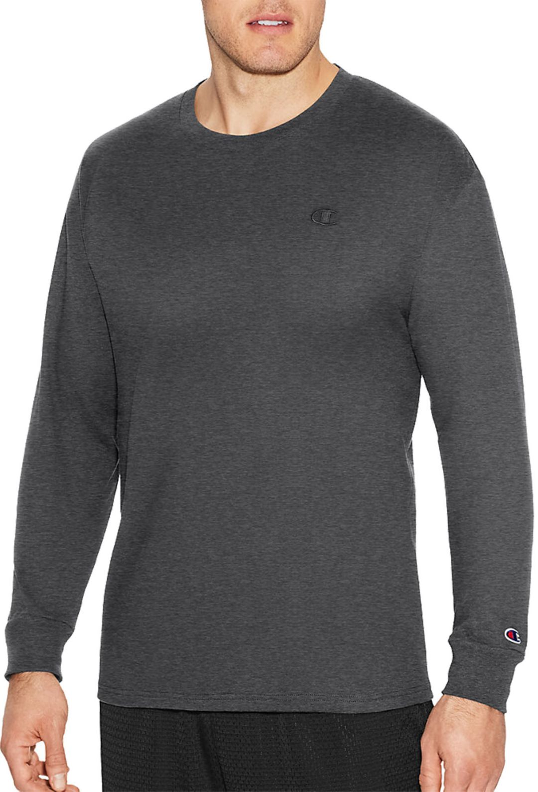 abf0051d Champion Men's Classic Cotton Long Sleeve Shirt | DICK'S Sporting Goods