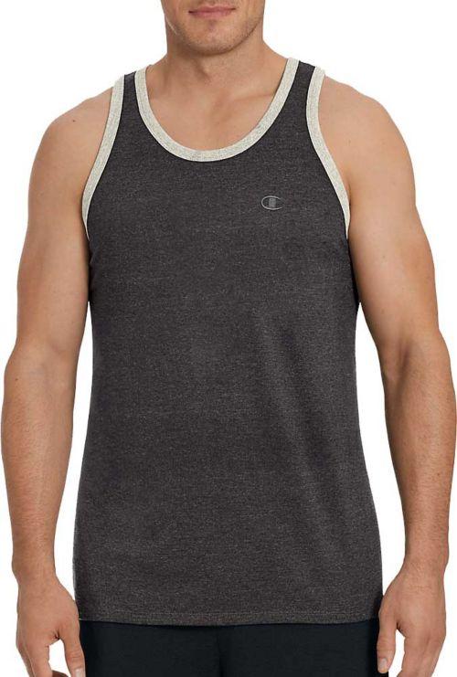 6c2f96b5f1e2 Champion Men s Classic Cotton Ringer Sleeveless Shirt