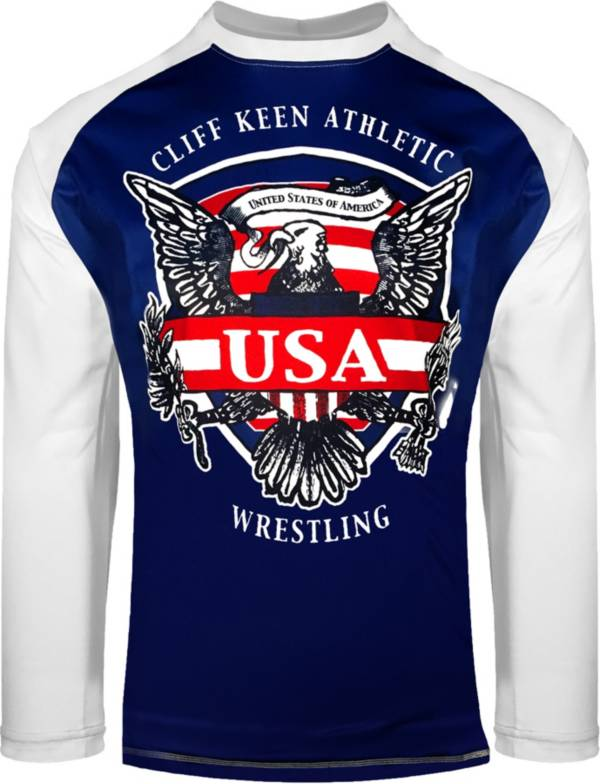 Cliff Keen Adult Historic Eagle Loose Long-Sleeve Sublimated Wrestling Top product image