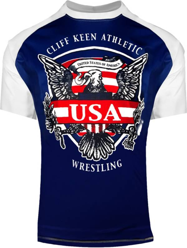 Cliff Keen Adult Historic Eagle Loose Short-Sleeve Sublimated Wrestling Top product image