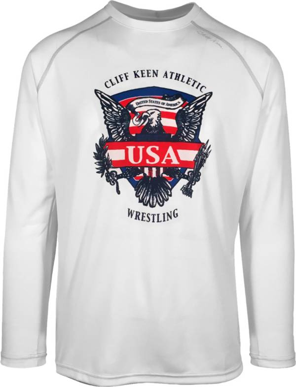 Cliff Keen Adult Historic Eagle Loose Long-Sleeve Wrestling Top product image