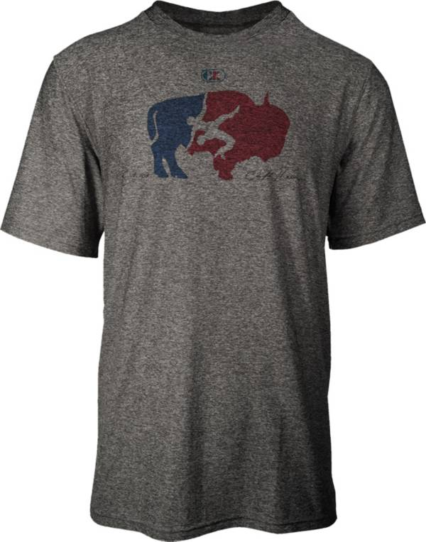 Cliff Keen Adult MXS Performance Stretch Buffalo Logo Wrestling T-Shirt product image