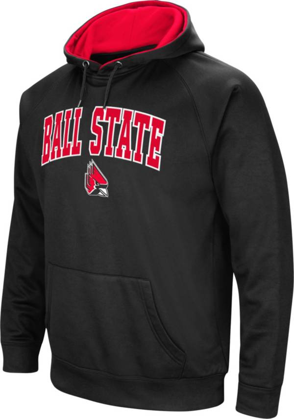 Colosseum Men's Ball State Cardinals Black Performance Hoodie product image