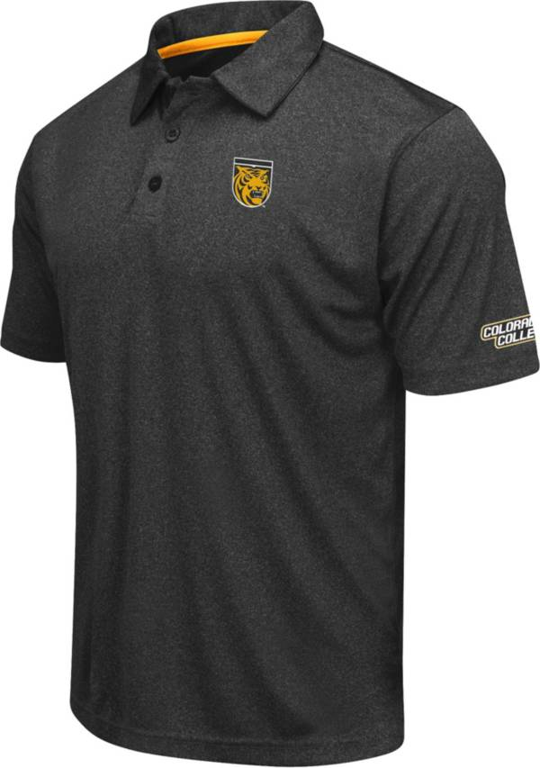 Colosseum Men's Colorado College Tigers Axis Black Polo product image