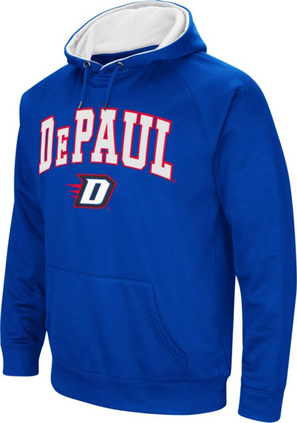 Colosseum Men's DePaul Blue Demons Royal Blue Fleece Hoodie product image