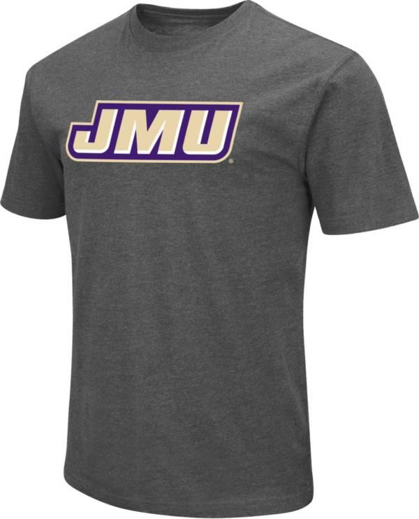 Colosseum Men's James Madison Dukes Grey Dual Blend T-Shirt product image