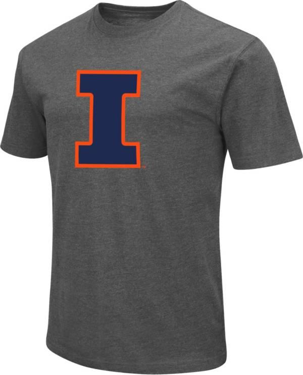 Colosseum Men's Illinois Fighting Illini Grey Dual Blend T-Shirt product image