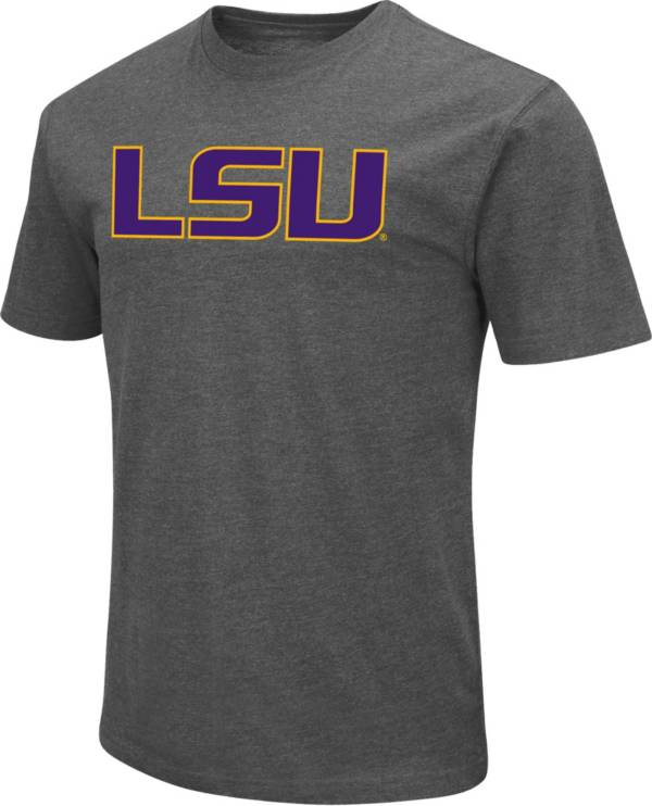 Colosseum Men's LSU Tigers Grey Dual Blend T-Shirt product image