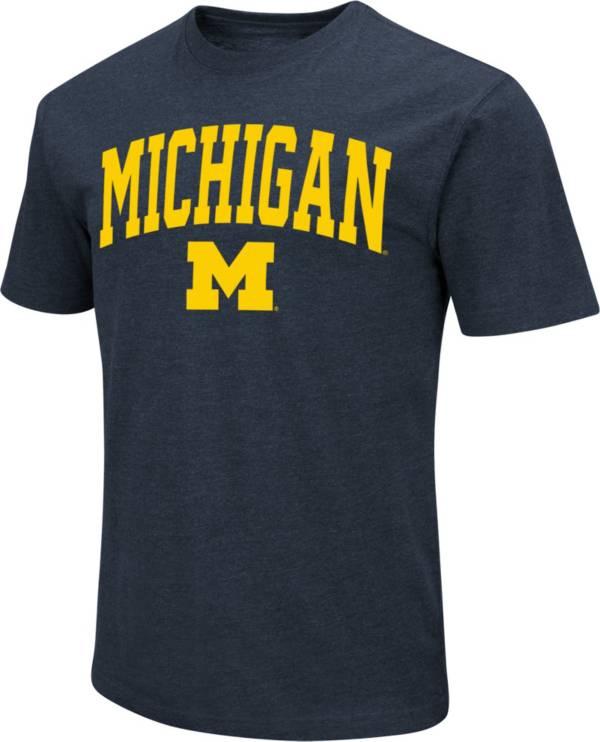 Colosseum Men's Michigan Wolverines Blue Dual Blend T-Shirt product image
