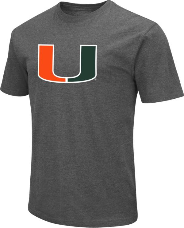 Colosseum Men's Miami Hurricanes Grey Dual Blend T-Shirt product image