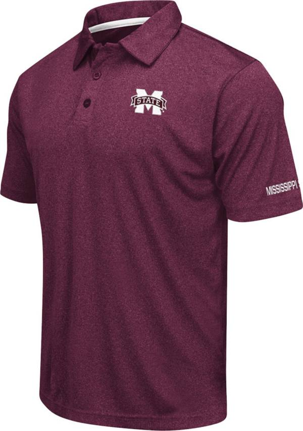 Colosseum Men's Mississippi State Bulldogs Maroon Axis Polo product image