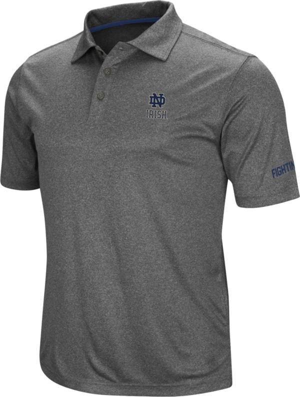 Colosseum Men's Notre Dame Fighting Irish Grey Cut Shot Polo product image