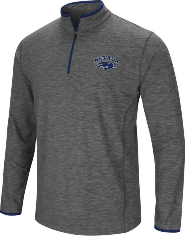 Colosseum Men's Nevada Wolf Pack Grey Action Pass Quarter-Zip Shirt product image