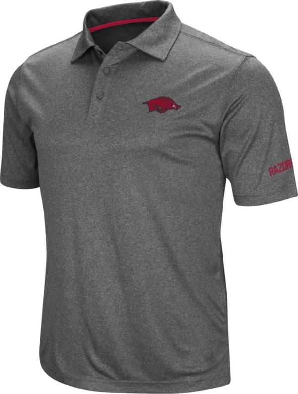 Colosseum Men's Arkansas Razorbacks Grey Cut Shot Polo product image