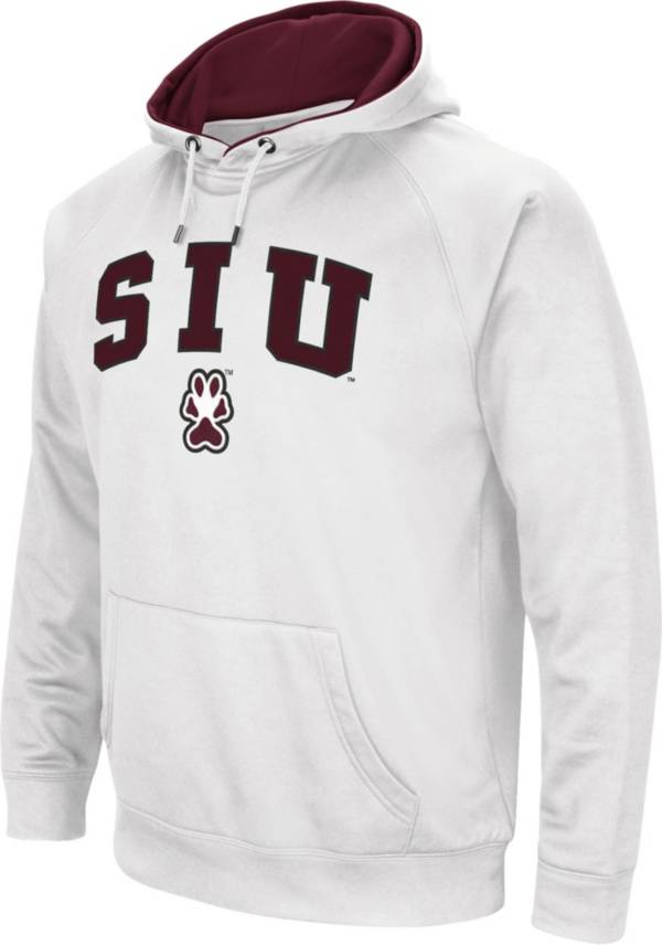 Colosseum Men's Southern Illinois Salukis White Performance Hoodie product image