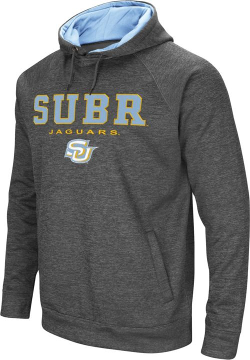 19dd3db7 Colosseum Men's Southern University Jaguars Grey Fleece Hoodie ...