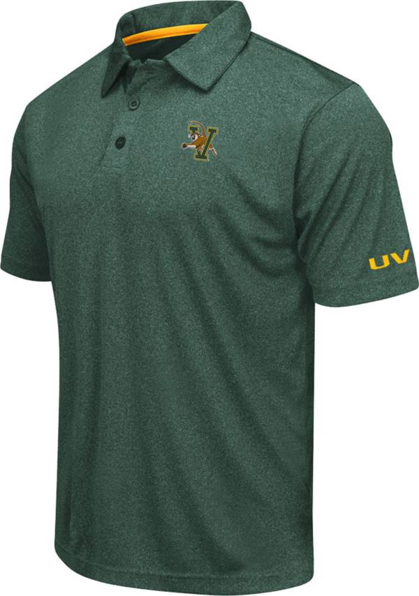 Colosseum Men's Vermont Catamounts Green Axis Polo product image