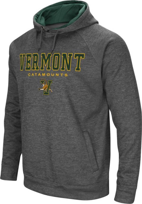 Colosseum Men's Vermont Catamounts Grey Fleece Hoodie product image