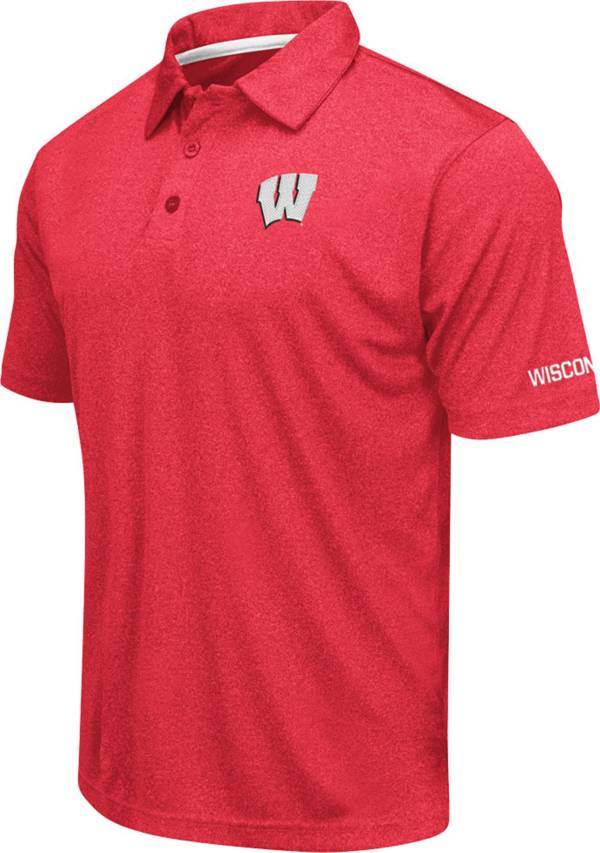 Colosseum Men's Wisconsin Badgers Red Axis Polo product image