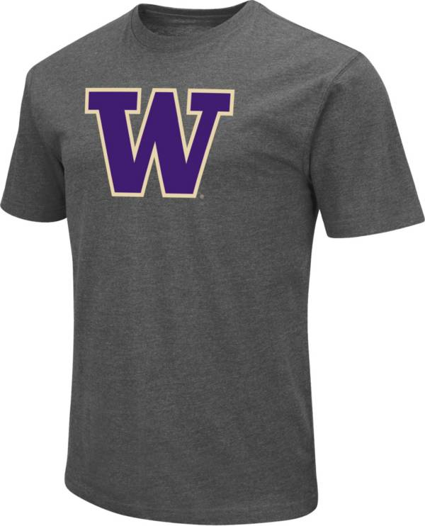 Colosseum Men's Washington Huskies Grey Dual Blend T-Shirt product image