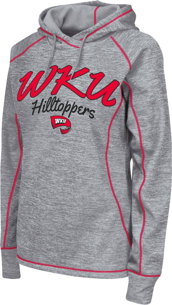 Colosseum Women's Western Kentucky  Hilltoppers Grey Crossneck Pullover Hoodie product image