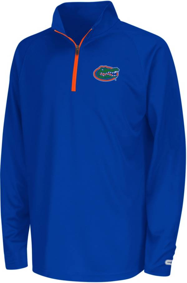 Colosseum Youth Florida Gators Blue Draft Performance Quarter-Zip Pullover Shirt product image