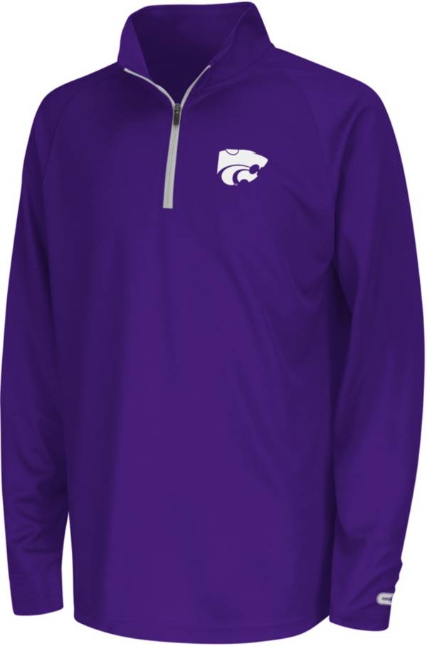 Colosseum Youth Kansas State Wildcats Purple Draft Performance Quarter-Zip product image