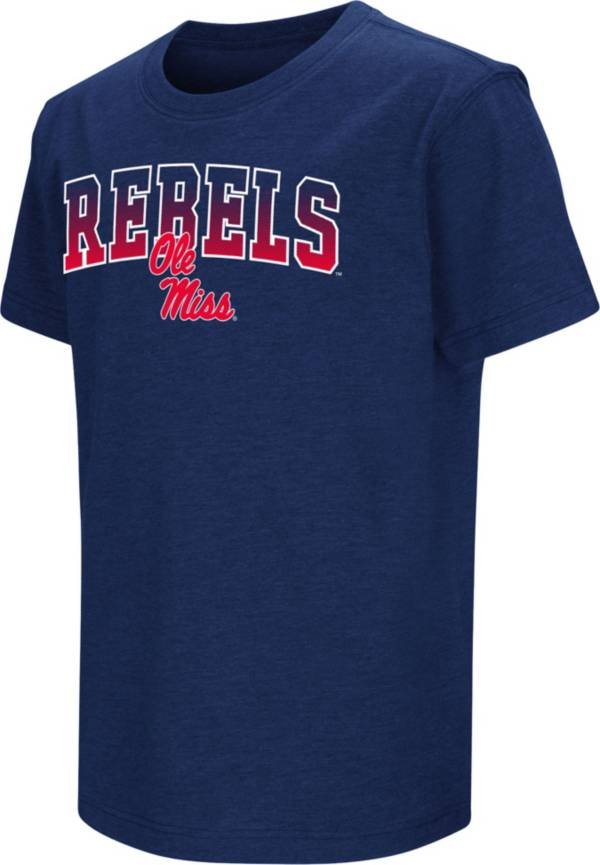 Colosseum Youth Ole Miss Rebels Blue Dual Blend T-Shirt product image