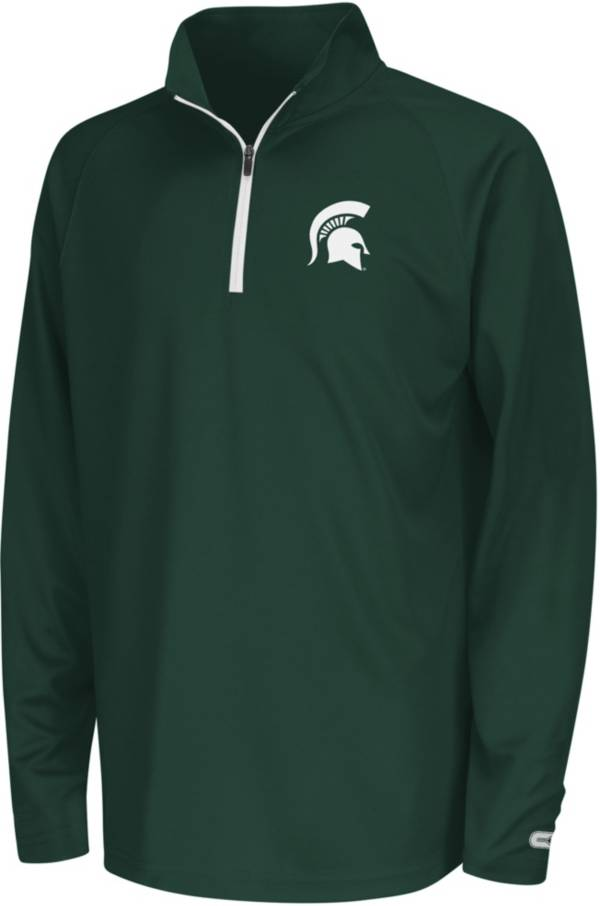 Colosseum Youth Michigan State Spartans Draft Performance Quarter-Zip product image